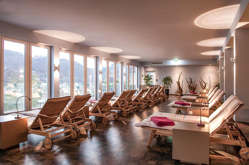 Spa Sauna Ruheraum im Hotel Krähennest