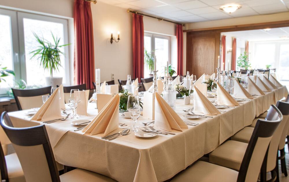 Hotel Krähennest Hochzeitsbankett