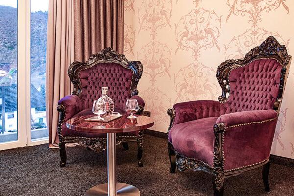 Krähennest Doppelzimmer Deluxe Josefine Sitze