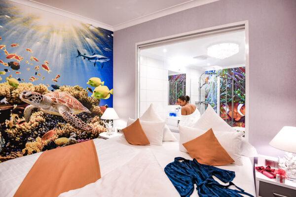 Krähennest Doppelzimmer Deluxe Seaworld Doppelbett