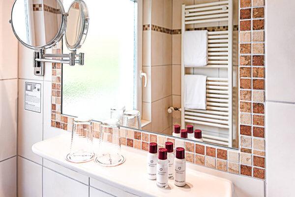 Krähennest Doppelzimmer Standard Badezimmer