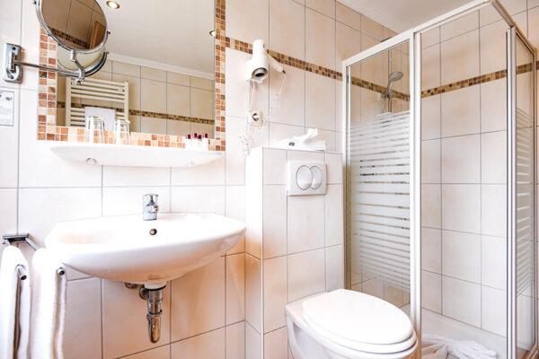 Krähennest Einzelzimmer Badezimmer